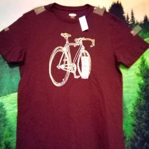 NWT Old Navy Bicycle Graphic Tee Size Small